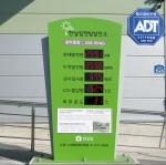 한살림안성물류센터 햇빛발전소 발전표시 패널