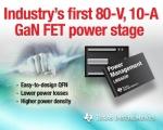 TI (대표이사 켄트 전)가 업계 최초로 80V, 10A 내장형 질화갈륨(GaN) FET(Field-effect Transistor) 전력단 프로토타입을 출시했다.