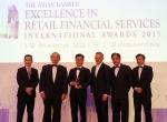 19일(목) 싱가폴에서 열린 아시안 뱅커(The Asian Banker)誌 주최 EXCELLENCE IN RETAIL FINANCIAL SERVICES INTERNATIONAL AWARDS 2015 행사에서 조영식 신한은행 싱가폴지점장이(왼쪽부터 세번째) 2015년 대한민국 최우수 리테일 은행상 수상 후 Asian Banker誌 관계자들과 함께 기념촬영을 하고 있다.