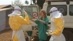 2014년 3월 에볼라 확산이 시작된 기니 케게두에서 국경없는의사회는 격리 시설을 세우고 에볼라 대응 활동을 시작했다(저작권 표기 © Kjell Gunnar Beraas/MSF)