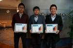 좌측에서부터 2015년 MATLAB 자격증 시험 합격자 박정환, 최용호, 이길수 씨