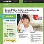 세계최대 소셜커머스 기업 그루폰이 국제구호 NGO단체인 월드쉐어와 함께 나눔을 펼친다