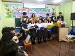 성인합창단 '세상을 바꾸는 하모니'와 누리 다문화학교 학생들의 축하 합창