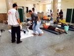 지난 3월 26일 부상자들을 치료하고 있는 예멘 아덴의 국경없는의사회의 응급 외과 병원(©국경없는의사회)