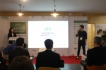 서울창업기업 투자설명회에서 발표중인 임형철 대표