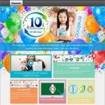 에네루프 10주년을 기념하기 위한 특별 웹사이트 홈페이지(글로벌 버전)