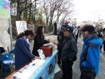2014년 영등포여의도 봄꽃축제 기간 도서관주간 가두캠페인 모습