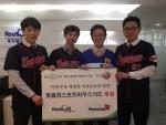 좌측부터 영우디지탈 사회인야구단의 김희준 코치, 이정익 차장, 김현철 대표원장, 백수환 감독