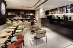 일본 나리타공항 제3터미널 면세점 구역에 위치한 카페베네 매장 내부