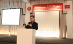 외교부 최경림 본부대사가 제2회 아세안농업포럼에서 한국의 FTA 정책과 농업이라는 주제로 발표를 진행하고 있다
