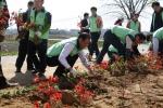 우정공무원교육원은 천안시 성거읍 모전1리 자매마을을 찾아 마을 꽃길 가꾸기 활동을 펼쳤다.