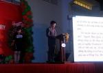 선진 이범권 총괄사장이 선진 베트남 법인 10주년 행사에서 환영사를 진행하고 있다