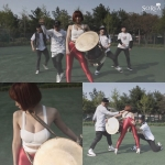 소리아밴드의 타악·거문고 연주자 타야가 섹시미 넘치는 장구 퍼포먼스 영상을 공개하며 화제를 모으고 있다.
