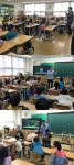 3D프린팅 교육 중인 이기훈 대표와 메이커스 엠파이어 공동 창업자 Lap Leung의 모습