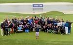 볼보트럭코리아는 중국 톰슨 상하이 푸동 골프클럽에서 개최된 2014 볼보 월드 골프 챌린지 월드 파이널에 참가했다. 사진은 대회 우승자를 비롯한 대회에 참가한 31개국 총 71명의 지역 예선 우승자들의 모습.