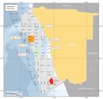 나미비아 연안 아지남 석유탐사 라이선스 지도