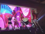 소리아밴드가  2015한국MICE대전에서 공연을 펼치고 있다.