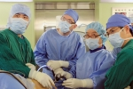 부민병원의 무릎 관절 수술 참관 모습