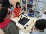 하자센터-한국암웨이 창의인재교육사업 생각하는 청개구리 참여 어린이들의 영상제작 모습