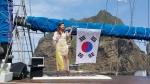 평화의 섬 독도에서 홀로아리랑을 연주하는 팝바이올리니스트 박은주