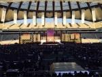 드림콘서트가 열린 상암 월드컵경기장 내부 무대 전경