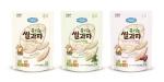 일동후디스가 아기 전용 과자 아기밀냠냠 유기농 쌀과자 떡뻥 3종을 출시한다.
