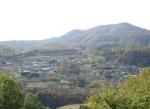 경주 토함산 자락의 하범곡 휴양마을 전경