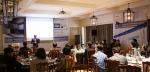 6월 4일 더라움 소셜 베뉴에서 진행된 '2015 지멘스 애드비아 엑스피티 시리즈(ADVIA XPTs Series) 신제품 론칭 세미나'에서 지멘스 헬스케어 진단사업부의 글로벌 영업 책임자인 에티엔 시보(Etienne Szivo)수석 부사장이 발표를 하고 있다.