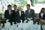 서희건설 이봉관 회장이 '포천 서희스타힐스' 주택홍보관 개관식을 방문했다.