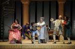 살레르노 베르디극장 세빌리아의 이발사 공연 장면