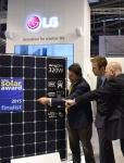 LG전자가 인터솔라 2015에서 6형 N타입 웨이퍼 기준 세계 최고 모듈 효율을 구현한 태양광 신제품 네온2를 공개한다.