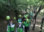 부민병원 강서 둘레길 건강걷기 대회 모습. 이 대회를 통해 적립된 기부금은 디지털 사회공헌 방식을 통해 네팔에 식수키트를 전달한다.