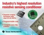 TI가 업계 최고 분해능을 가진 저항 센싱 신호 컨디셔너를 출시한다.
