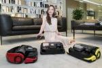삼성전자 모델이 30일 삼성전자 수원사업장 생활가전동 프리미엄 하우스에서 진공흡입이 가능한 삼성 로봇청소기 파워봇 신모델 3종을 소개하고 있다.