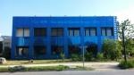 에미리트 인솔레어의 빌딩 정면 유색 솔라 패널. 스위스 로잔 소재.