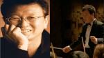 팡팡음악회 연출과 해설을 맡은 전유성(좌)과 지휘퍼포먼스 김현철(우)