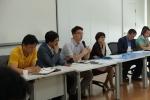 광역자활센터 리더십 역량강화 과정에 참여하여 현장과 소통하는 보건복지부 임혜성자립지원과장(오른쪽 세 번째), 이승묵사무관(네번째)