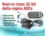 TI가 높은 분해능과 낮은 잡음, 오류 검출 기능을 결합하여 디바이스 평가 및 선택 시 발생하는 일반적인 성능과 기능 저하를 방지하는 32bit 델타 시그마 아날로그-디지털 컨버터(ADC)를 출시한다