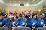 세잎클로버 찾기 대학생 멘토 80명이 이달 10일부터 12일까지 2박 3일간 현대자동차 인재개발원 파주캠퍼스에서 열린 사전 교육 프로그램에 참여하는 모습