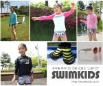 스윔키즈에서 생산 및 판매하는 유아동복 래쉬가드수영복