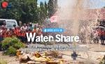 월드쉐어가 물 부족 국가에 우물을 파주는 캠페인을 진행한다.