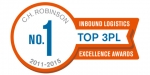 C.H. 로빈슨(C.H. Robinson), 인바운드 로지스틱스(INBOUND LOGISTICS) 매거진 독자에 의해 3PL(3자물류)부분에서 5년 연속 1위로 선정