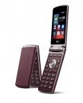 LG전자가 유럽, CIS 등 해외 시장에 출시하는 폴더형 스마트폰 LG 젠틀 제품이미지. 제품 색상은 네이비와 버건디. (사진제공: LG전자)