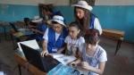 아제르바이잔에서 IT교육을 진행하고 있는 삼성전자 임직원
