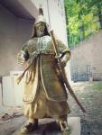 이조가 3D프린터로 제작한 이순신 장군 황금 동상