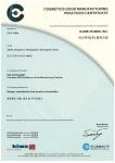 아이큐어 인증서 ISO 22716
