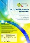 2015 아시아태평양 젠더서밋 포스터