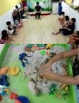 함께하는 사랑밭이 소외 아동들을 대상으로 심리상담치료를 지원하고 있다