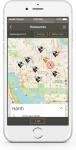로컬 씬(Local Scene)으로 우버 승객이 가장 많이 찾는 현지 명소의 지도를 볼 수 있다.