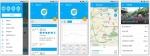 써모케어 모바일 서비스 주요 화면